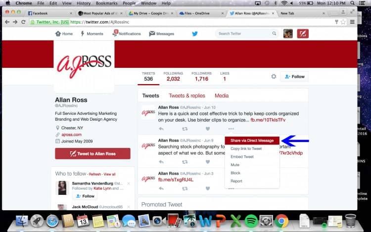 2_Screen_shot_share_via_direct_message_arrow