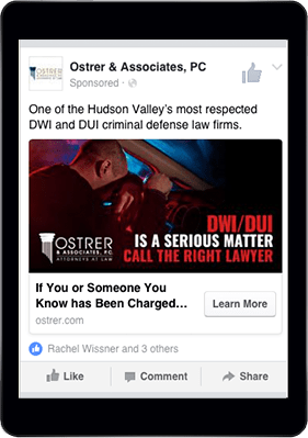 Ostrer & Associates Attorneys at Law Facebook Page