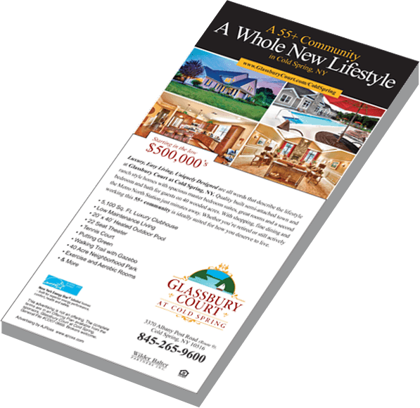 Brochure titled 'A whole new lifestyle'