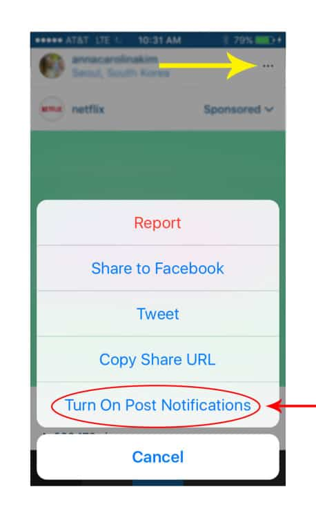 postnotifications