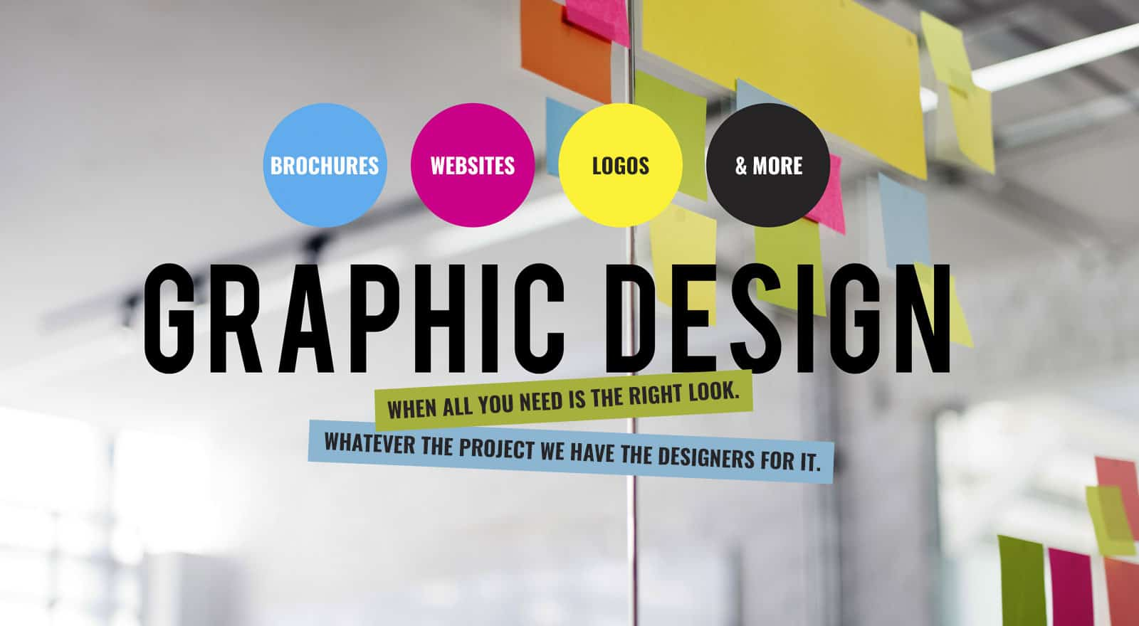 Graphic Design: When all you need is the right look. Whatever the project we have the designer for it