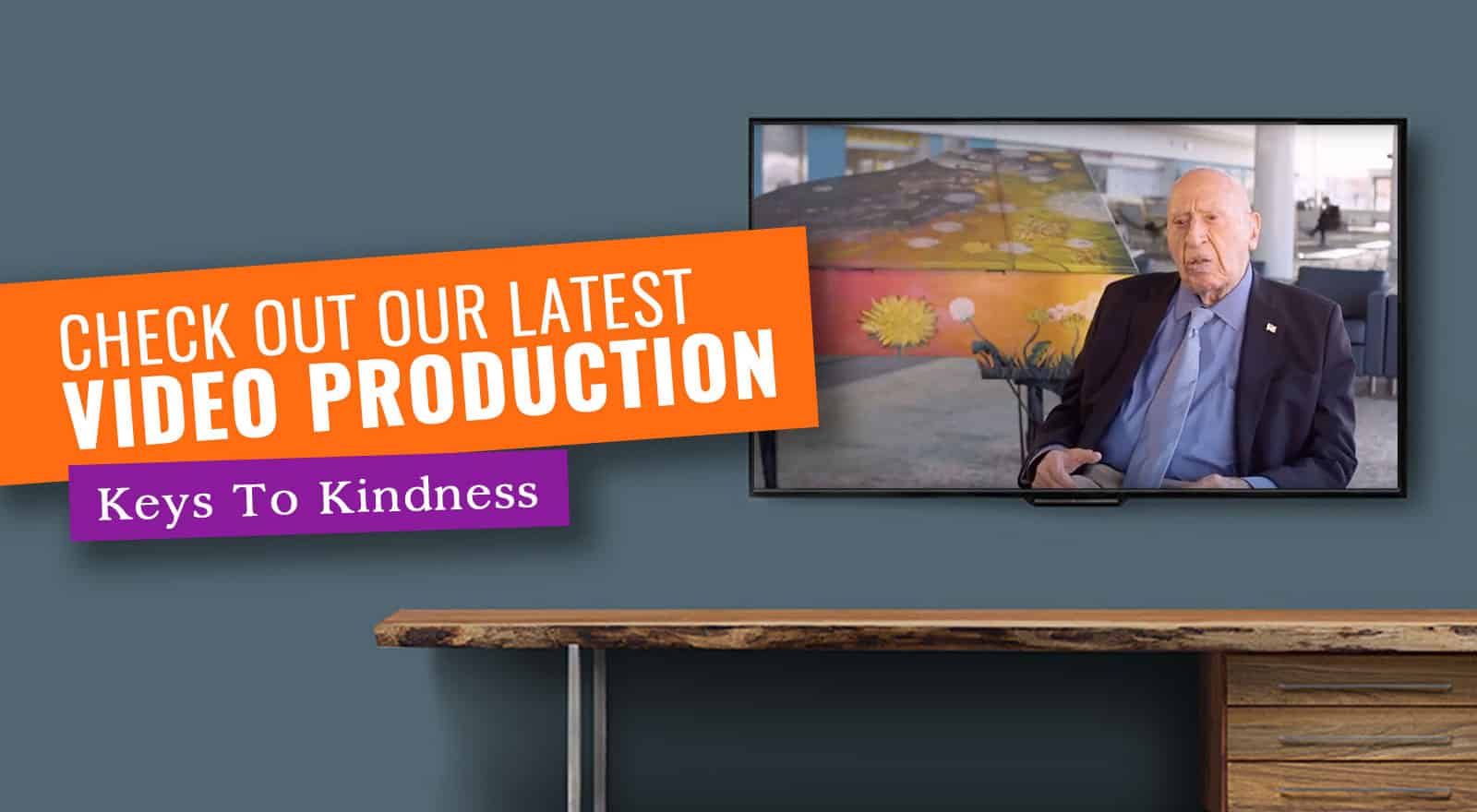 Page link with text: Check out our latest Video Prodction, 'Keys to Kindness' .