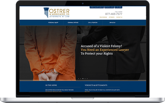 Ostrer & Associates Attorneys at Law Website