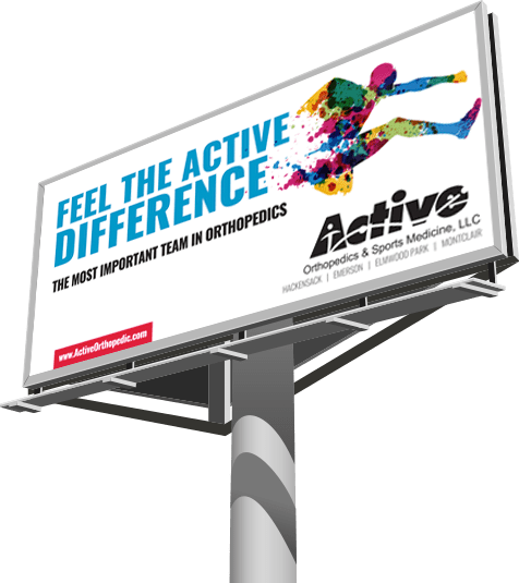 billboard with text 'feel the active difference'